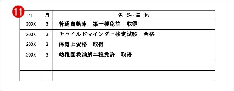 履歴書見本_資格