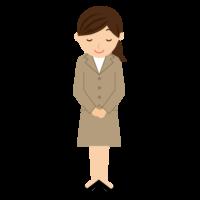 お辞儀をする女性のイラスト