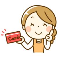 イラスト_クレジットカードを持つ女性