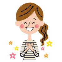 イラスト_喜ぶ女性